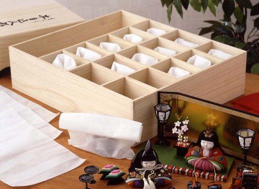 木目込人形フルセット用桐収納箱