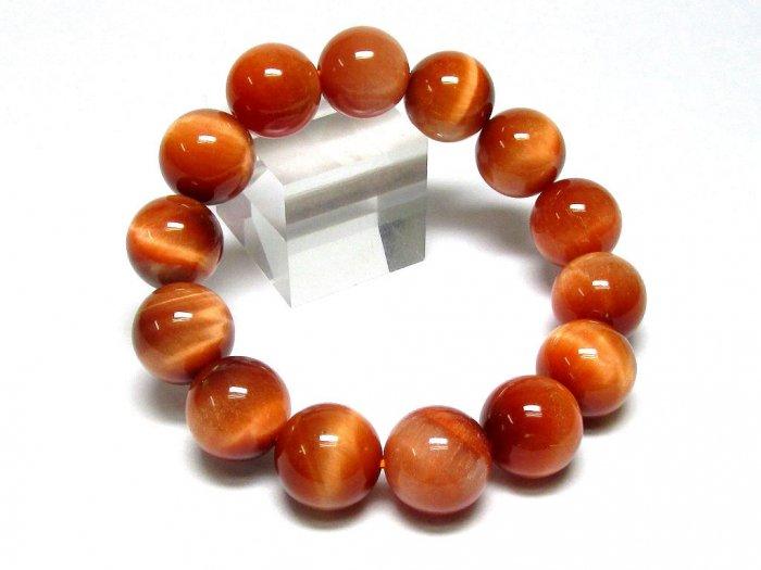 新色!大粒オレンジタイガーアイ・ブレスレット14.5mm-M