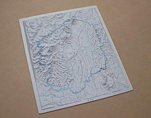 県別立体地図 栃木県
