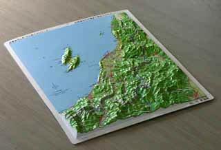 立体県別地図 新潟県(カラー)