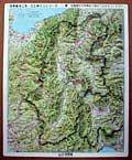 立体県別地図 長野県(カラー)