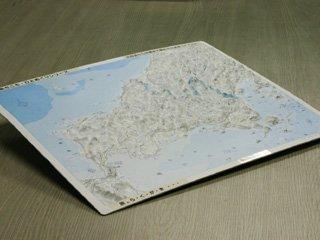 立体県別地図 山口県