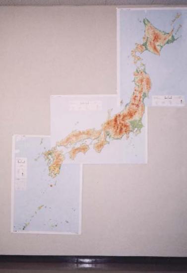 広域エリア立体レリーフマップ 1/100万シリーズ 『北日本(地形版)』 (アルミフレーム付き)