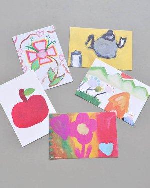 子どもの絵のポストカード 5枚セット(A)