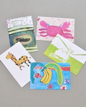 子どもの絵のポストカード 5枚セット(B)