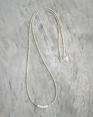 カレンシルバー×淡水パール ネックレス