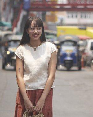 ちぢみガーゼフレンチスリーブシャツ