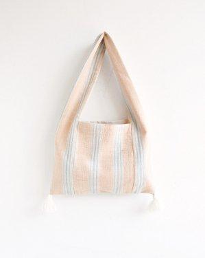 手織りカレン族バッグ(草木染・ストライプ)