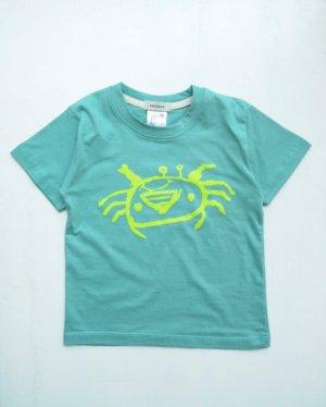 子どもの絵のキッズTシャツ(カニ)