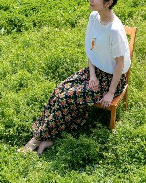 リバーシブルギャザースカート