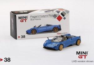 1/64スケール MINI GT パガーニ・ウアイラ・ロードスター(ブルー/LHD)