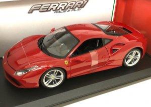 ブラーゴ 1/18スケール「フェラーリ488GTB」(レッド)Race & Playシリーズ