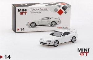 1/64スケール MINI GT 「トヨタ・スープラ」(ホワイト/RHD)