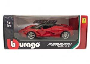 ブラーゴ 1/24スケール「フェラーリ/ラフェラーリ」(レッド)Race & Playシリーズ