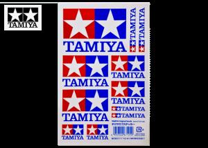 タミヤロゴステッカー(レッド/ブルー)