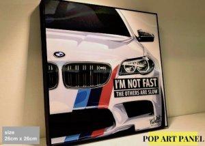 ポップアートパネル「BMW」約26cm x 26cm