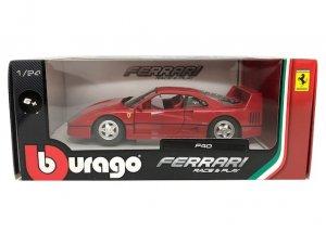 ブラーゴ 1/24スケール「フェラーリ/F40」(レッド)Race & Playシリーズ