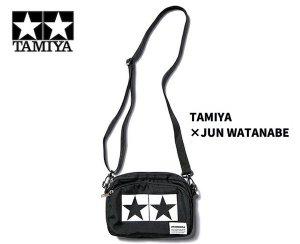 TAMIYA×JUN WATANABE タミヤマーク ミニショルダーバッグ(ブラック)