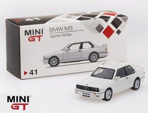 1/64スケール MINI GT「BMW M3」(E30) Alpine White ミニカー