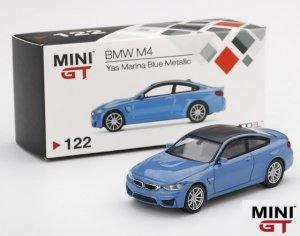 1/64スケール MINI GT「BMW M4」 (F82) Yas Marina Blue Metallic ミニカー