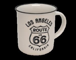 【ROUTE 66】レトロマグカップ(ホワイト)