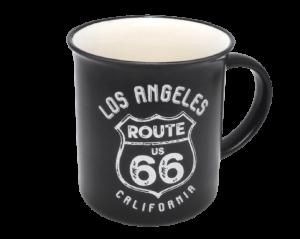 【ROUTE 66】レトロマグカップ(ブラック)