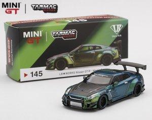 MINI GT x TARMACコラボ 1/64スケール「LB★WORKS 日産GT-R」(マジックグリーン)ミニカー