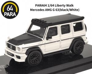 PARA64 1/64スケール「Liberty Walk メルセデスAMG G 63」ホワイト ミニカー