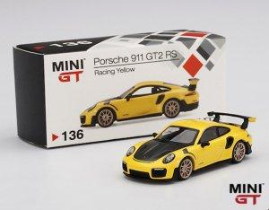 MINI GT 1/64スケール「ポルシェ911 GT2 RS」(レーシングイエロー)ミニカー