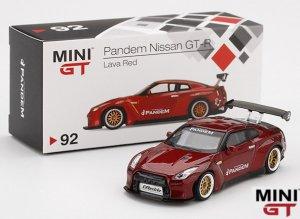 MINI GT 1/64スケール「Pandem Nissan GT-R」(ラヴァレッド)ミニカー