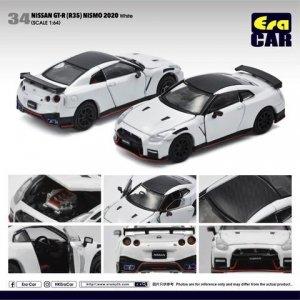 Era Car 1/64スケール「Nissan GT-R(R35) NISMO 2020」 ホワイト (ボンネット・ドア開閉)ミニカー