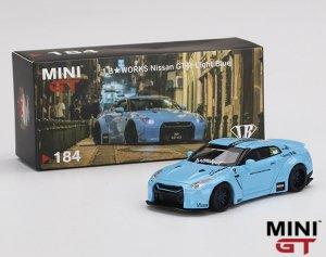 MINI GT 1/64スケール「LB★WORKS 日産GT-R (R35) Type 1, Rear Wing ver 2」(ライトブルー)ミニカー