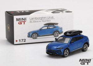 MINI GT 1/64スケール「ランボルギーニ・ウルス/ルーフボックス付き」(ブルー)ミニカー