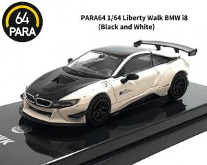 PARA64 1/64スケール「リバティーウォーク BMW i8」(ブラック&ホワイト) ミニカー