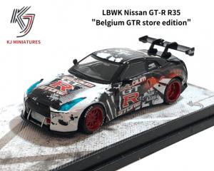 KJ MINIATURES 1/64スケール「LBWK Nissan GT-R R35