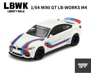 1/64スケール MINI GT「LB-WORKS BMW M4」(ホワイト)ミニカー