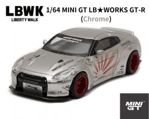 <img class='new_mark_img1' src='https://img.shop-pro.jp/img/new/icons5.gif' style='border:none;display:inline;margin:0px;padding:0px;width:auto;' />1/64スケール1/64 MINI GT「LB★WORKS Nissan GT-R (R35)」(サテンシルバー)ミニカー