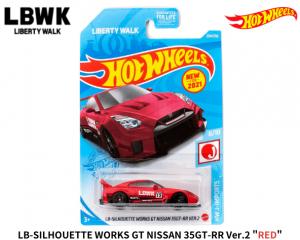 HOT WHEELS 1/64スケール「LB-SILHOUETTE WORKS GT NISSAN 35GT-RR Ver.2」(レッド)ミニカー