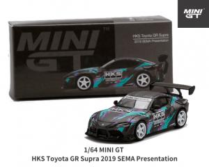 MINI GT 1/64スケール「HKS トヨタ GR スープラ 2019 SEMA Presentation」ミニカー
