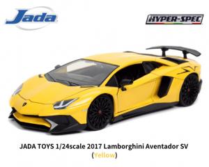 JADA TOYS 1/24スケール「ランボルギーニ・アヴェンタドールSV」(イエロー)ミニカー