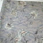 antique calico flower #D