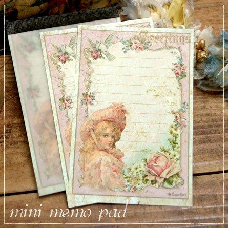 ミニメモ帳★薔薇と少女