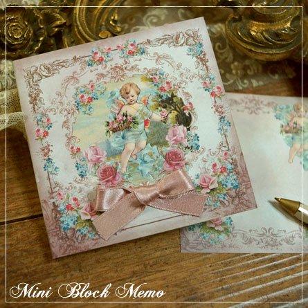 表紙付きブロックメモ★薔薇を持つ天使