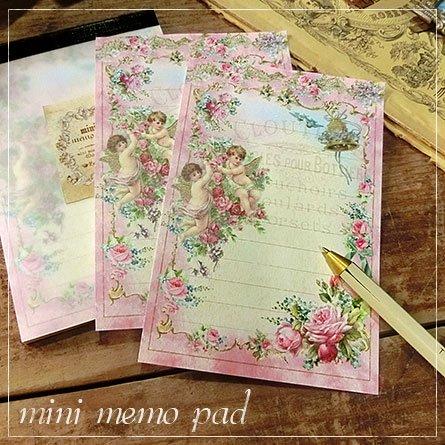 ミニメモ帳★薔薇と2人の天使