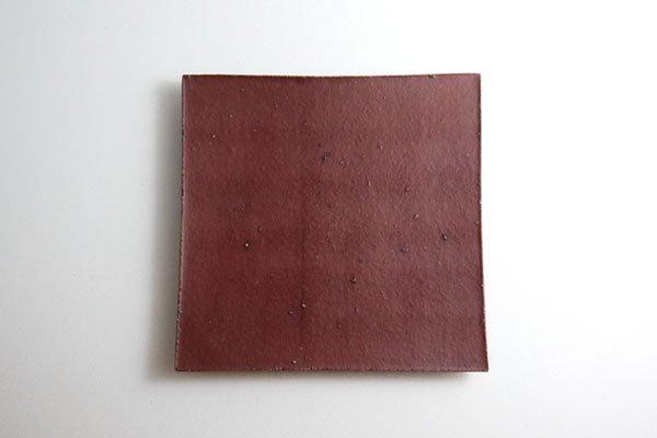 正方板皿 (赤)