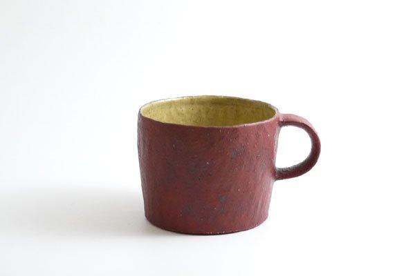 コーヒーカップ(赤黄)