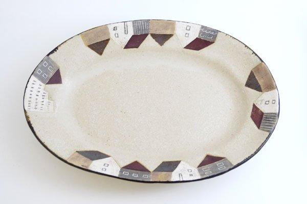 家もようオーバル皿(大)