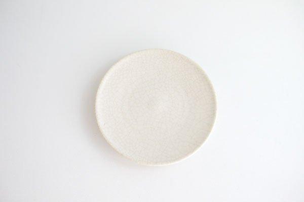 皿(細かい白貫入)