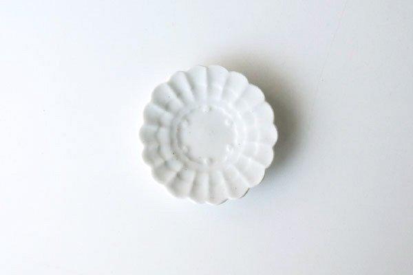 白瓷花雪輪 豆皿