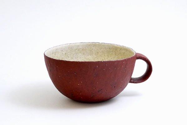 スープカップ(赤白)